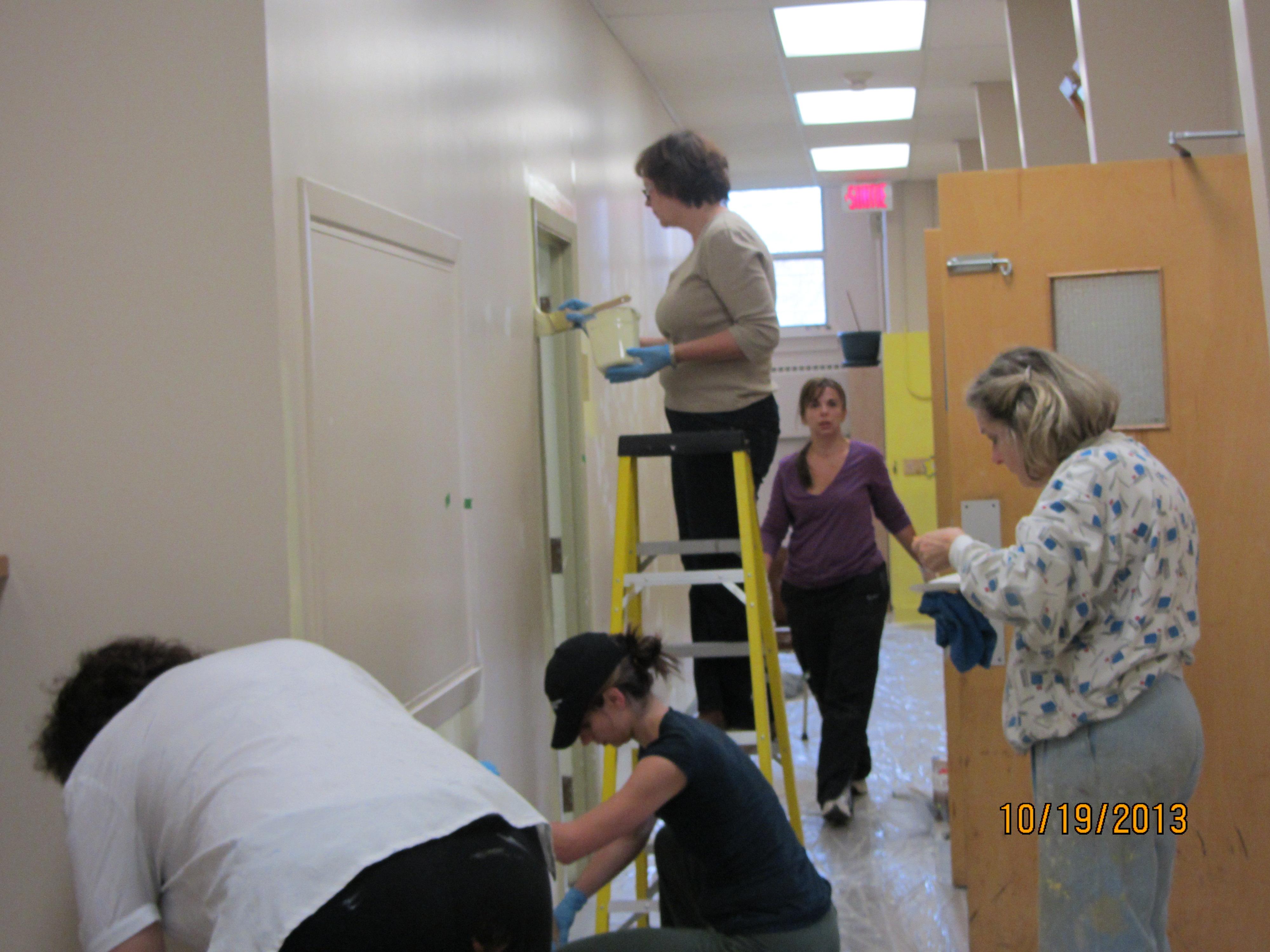 Les travaux de peinture à l'Annexe de Laval ont commencés