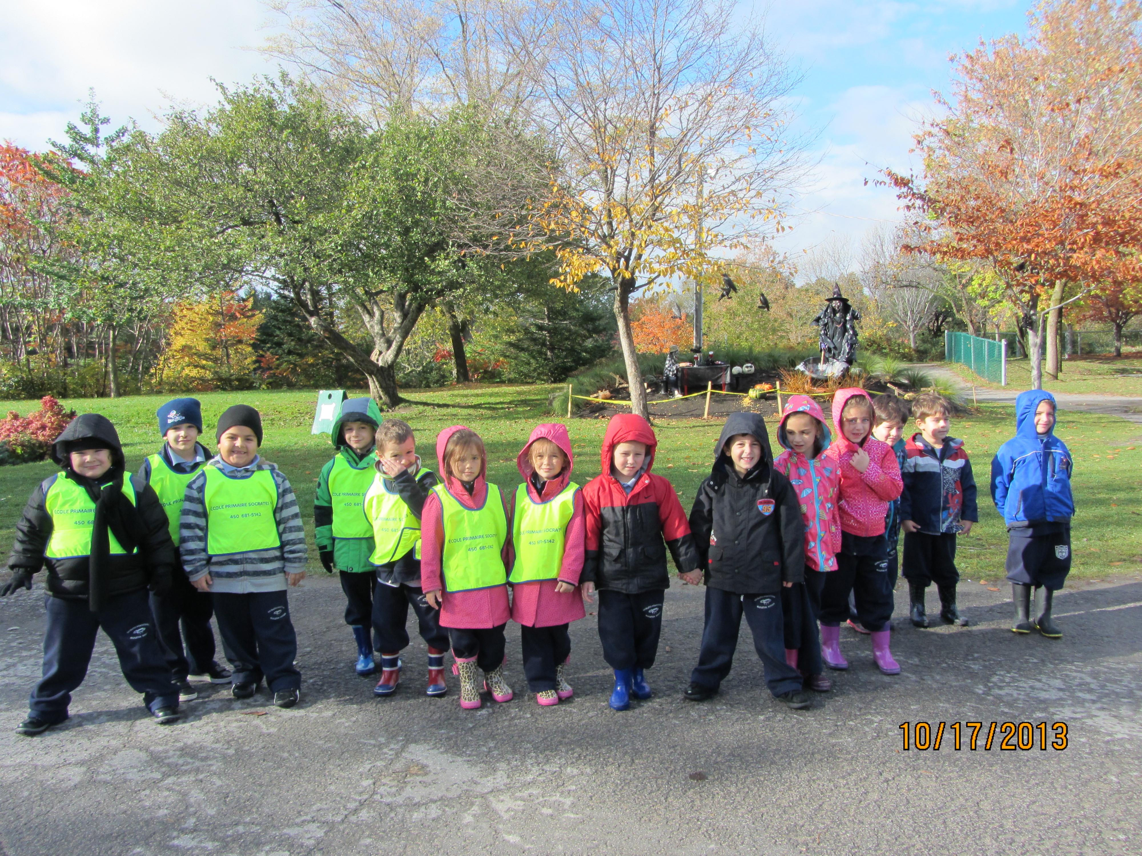 Les élèves de la maternelle de l'Annexe au Centre de la Nature de Laval