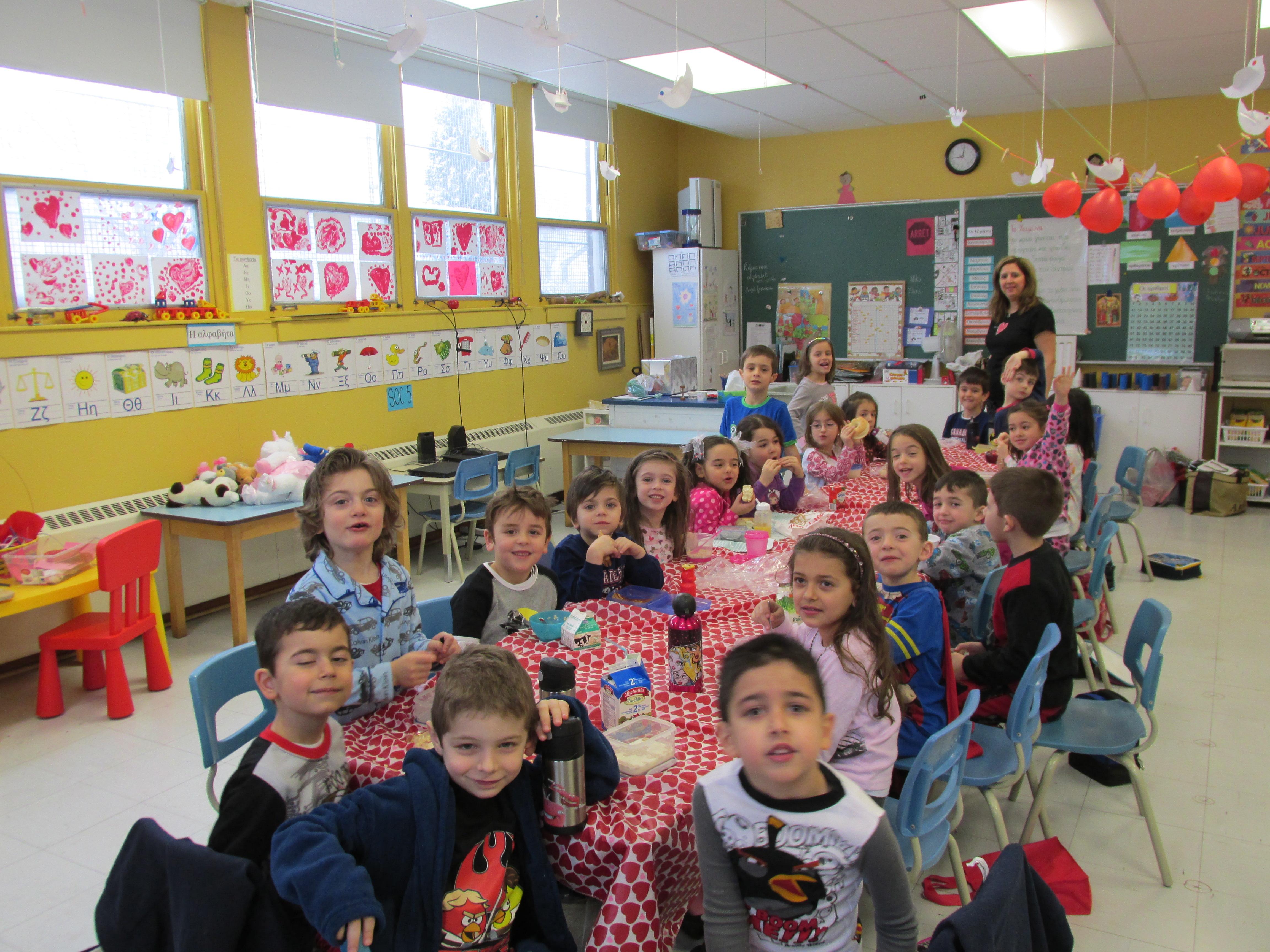 La St-Valentin à la maternelle