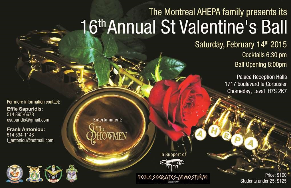 The Montreal AHEPA family presents its 16th annual St.Valentine's Ball