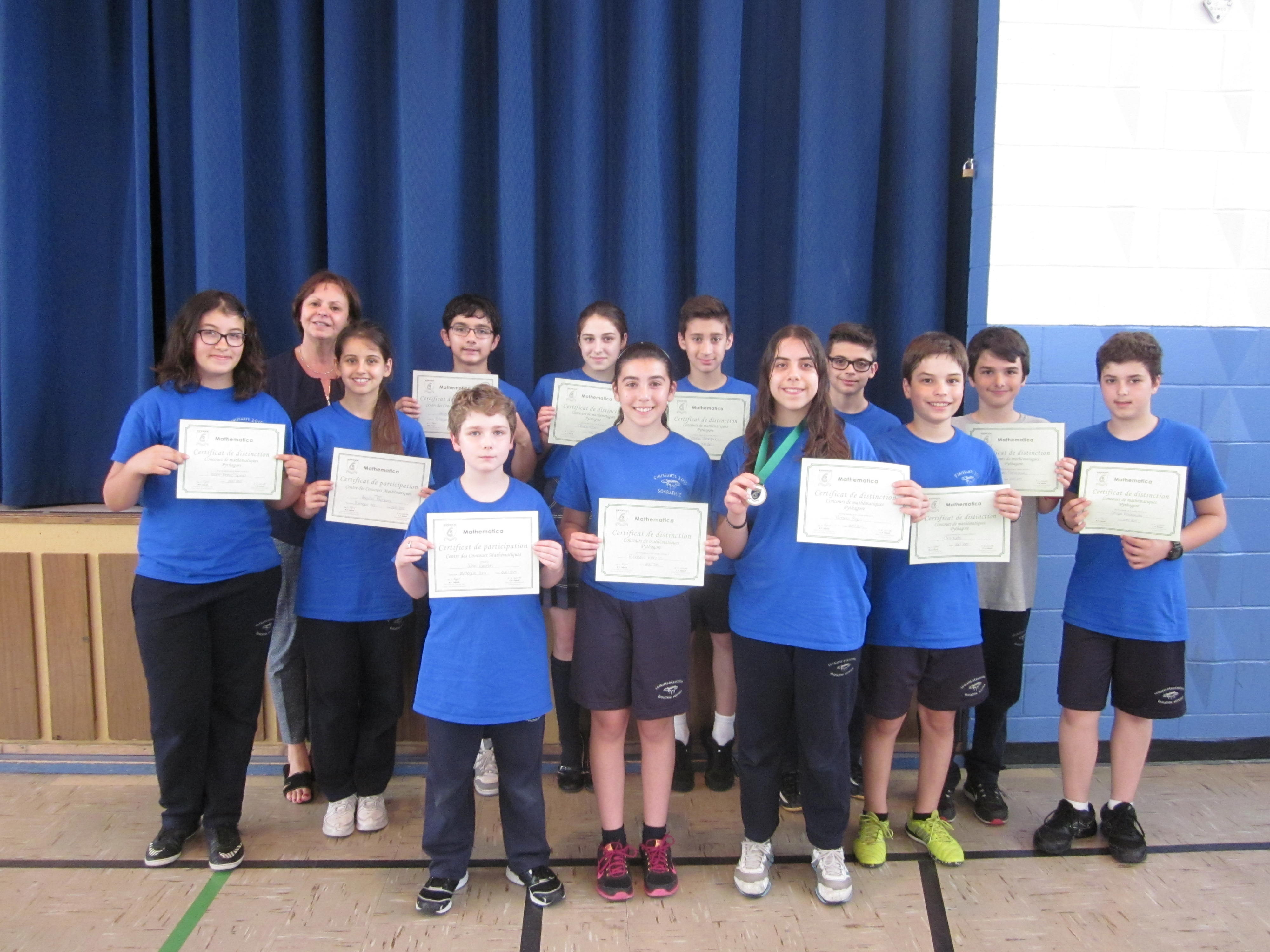 Un franc succès au concours de mathématique Pythagore
