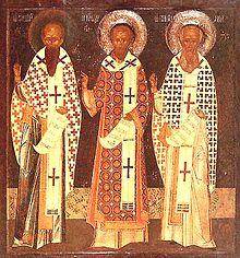 Socrates V celebrates the Three Holy Hierarchs