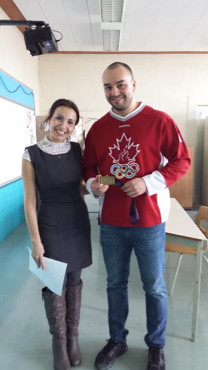 Nicolas Macrozonaris visite nos élèves au Campus Démosthène!