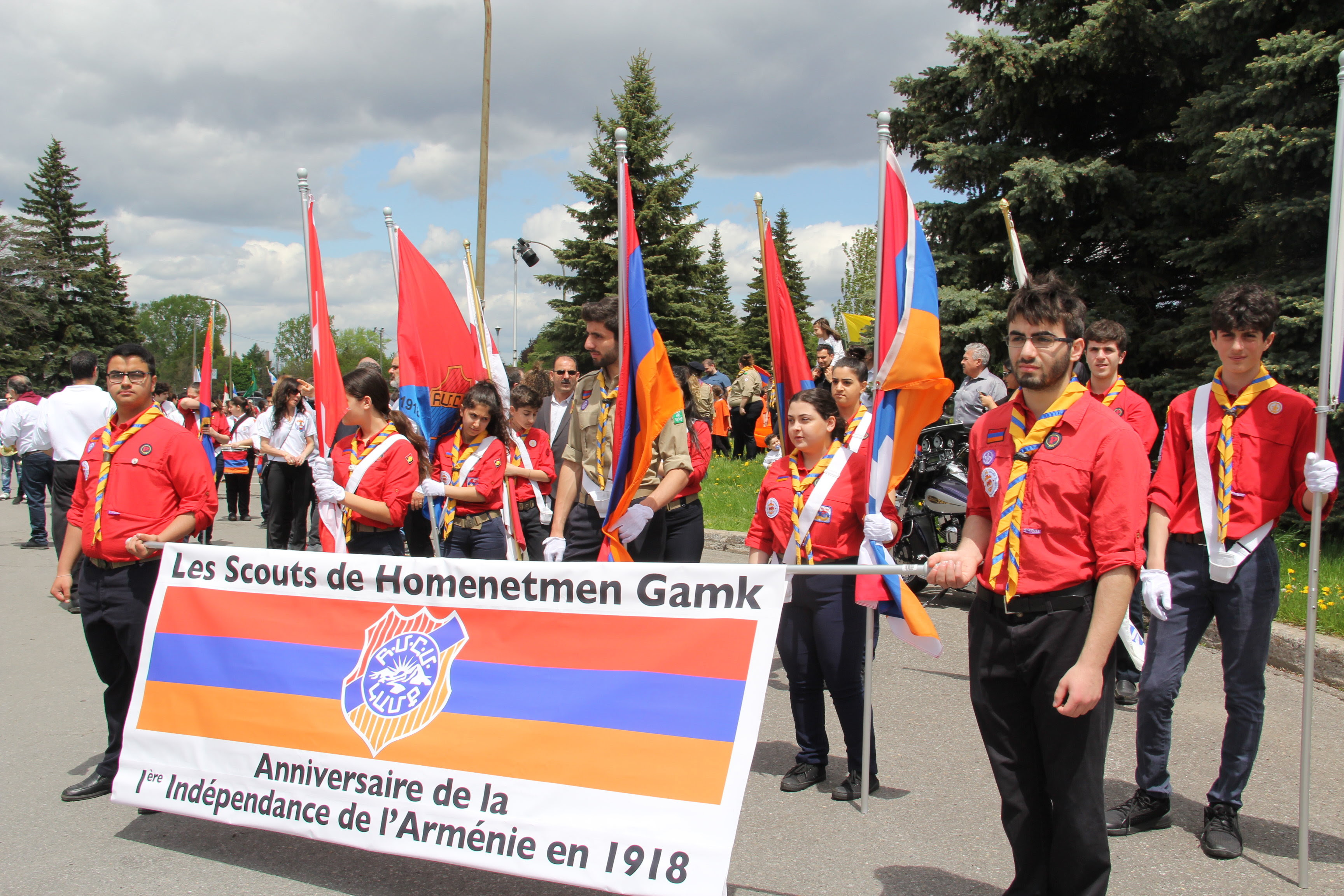 HCGM delegation to the Armenian independence parade