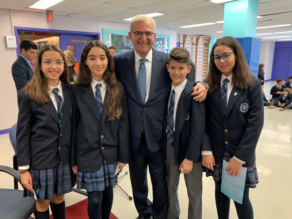 A member of the Greek government receives a tremendous welcome at our School