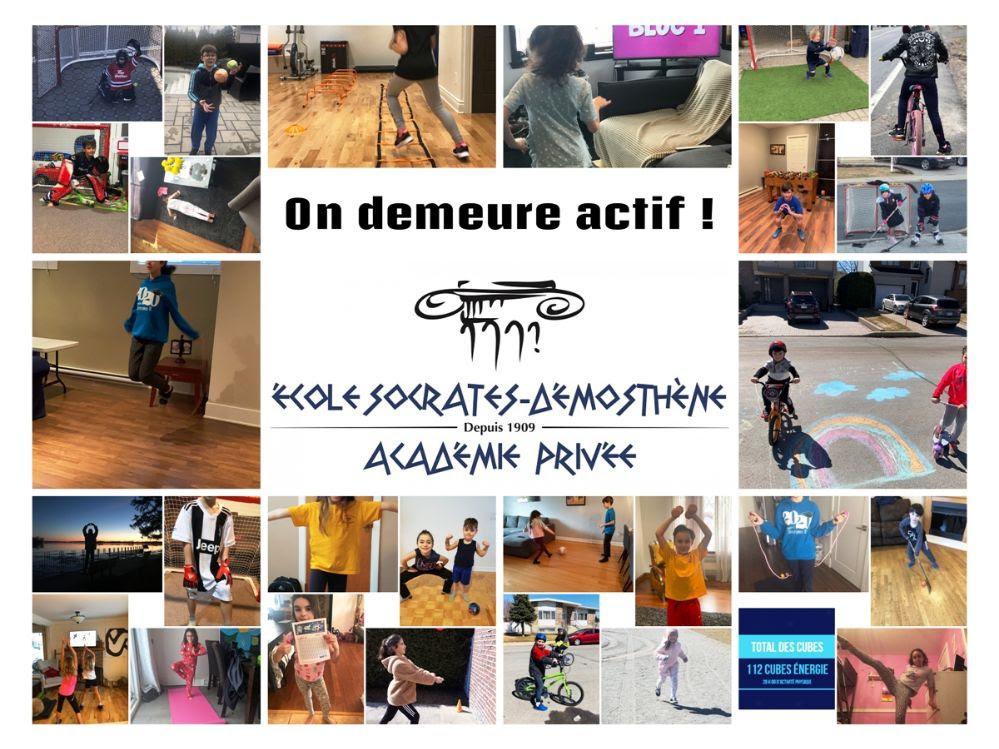 We stay active at Socrates-Demosthenes School