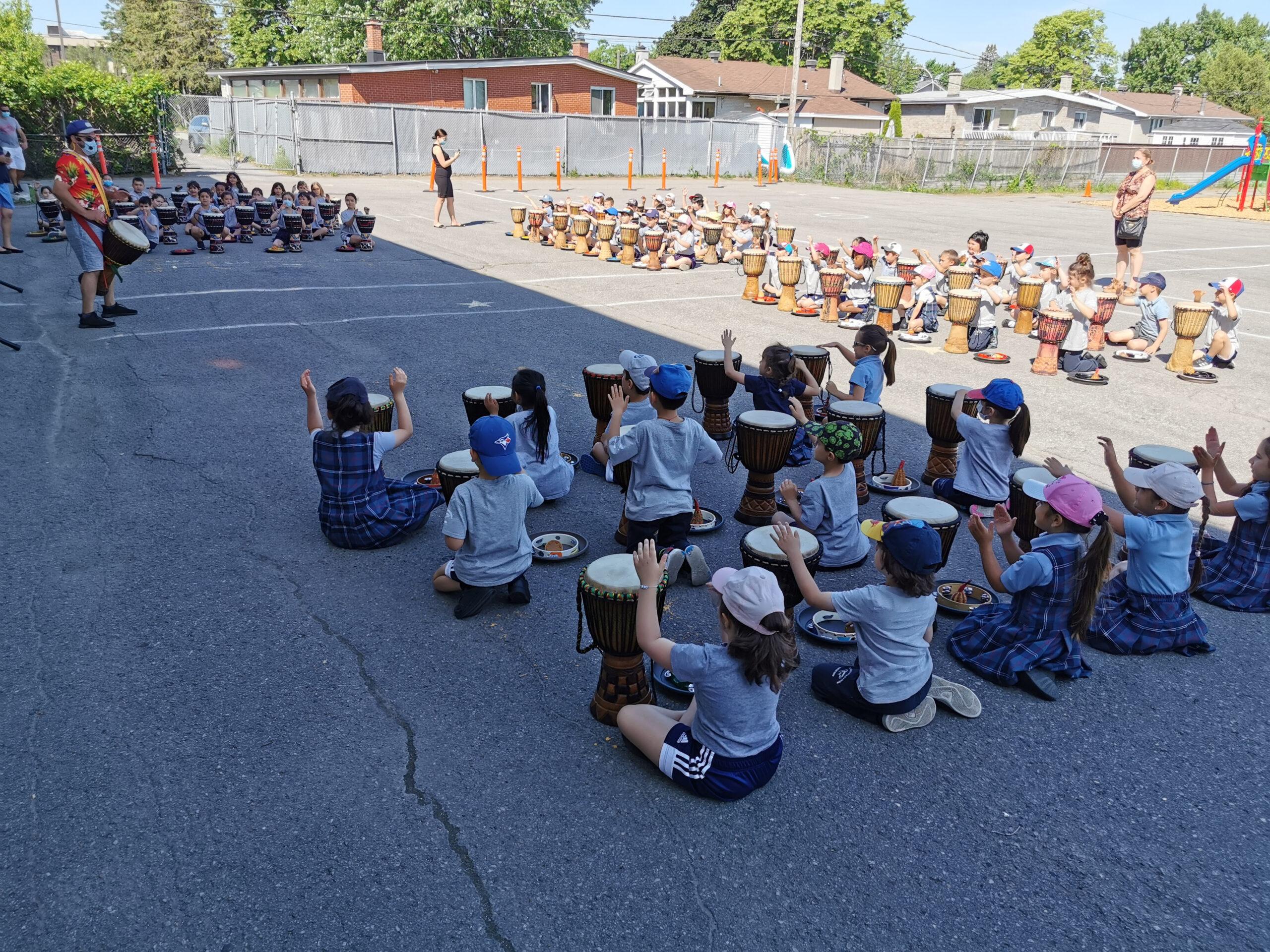 Impactful Drumming at the Demosthenes Campus