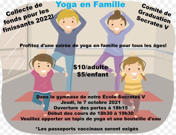 Collecte de fonds pour les finissants de Socrates V 2022 – Yoga en famille